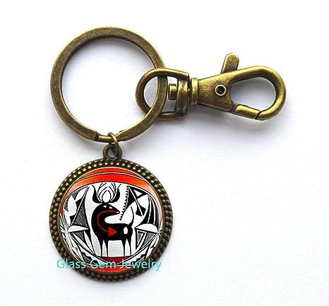 Llavero indio nativo americano, llavero con diseño de ciervo ...