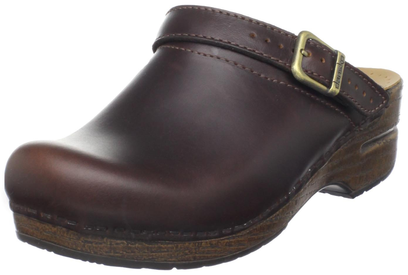 Dansko Women's Ingrid Oiled Full Grain Clog,Espresso,39 EU/8.5-9 M US