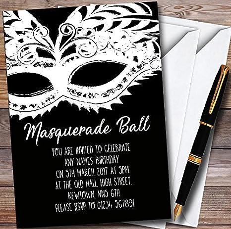 amazon com black white mask masquerade ball personalized party