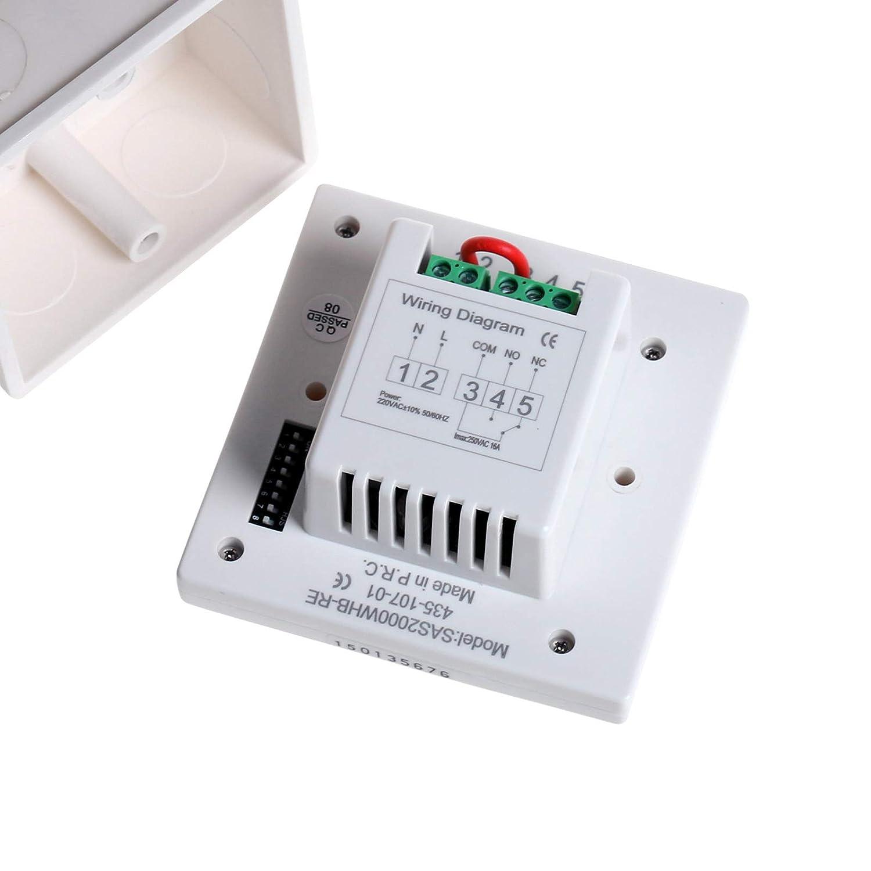 LICHIFIT termostato programable inalámbrico de calefacción para bajo Suelo Sistema de Calentamiento de Agua válvula actuador eléctrico Panel Calefactor de ...