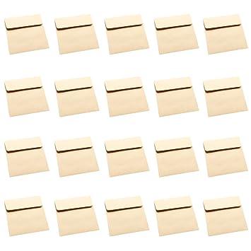 20 X Toruiwa Briefumschlage Aus Kraftpapier Ohne Fenster 10 10 Cm