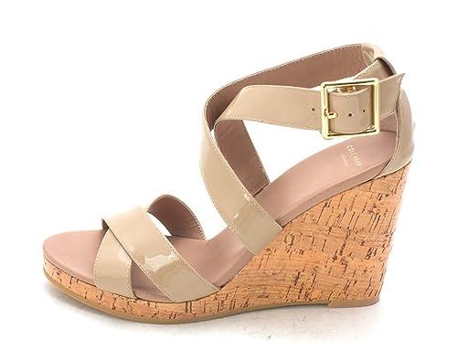 Cole Haan Womens Wendysam Open Toe Casual Platform Sandals Tan Size 60