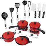MagiDeal Set Of 13PCS Plastic Kitchen Cookware Utensils Pretend Play Toy For Kids Adult