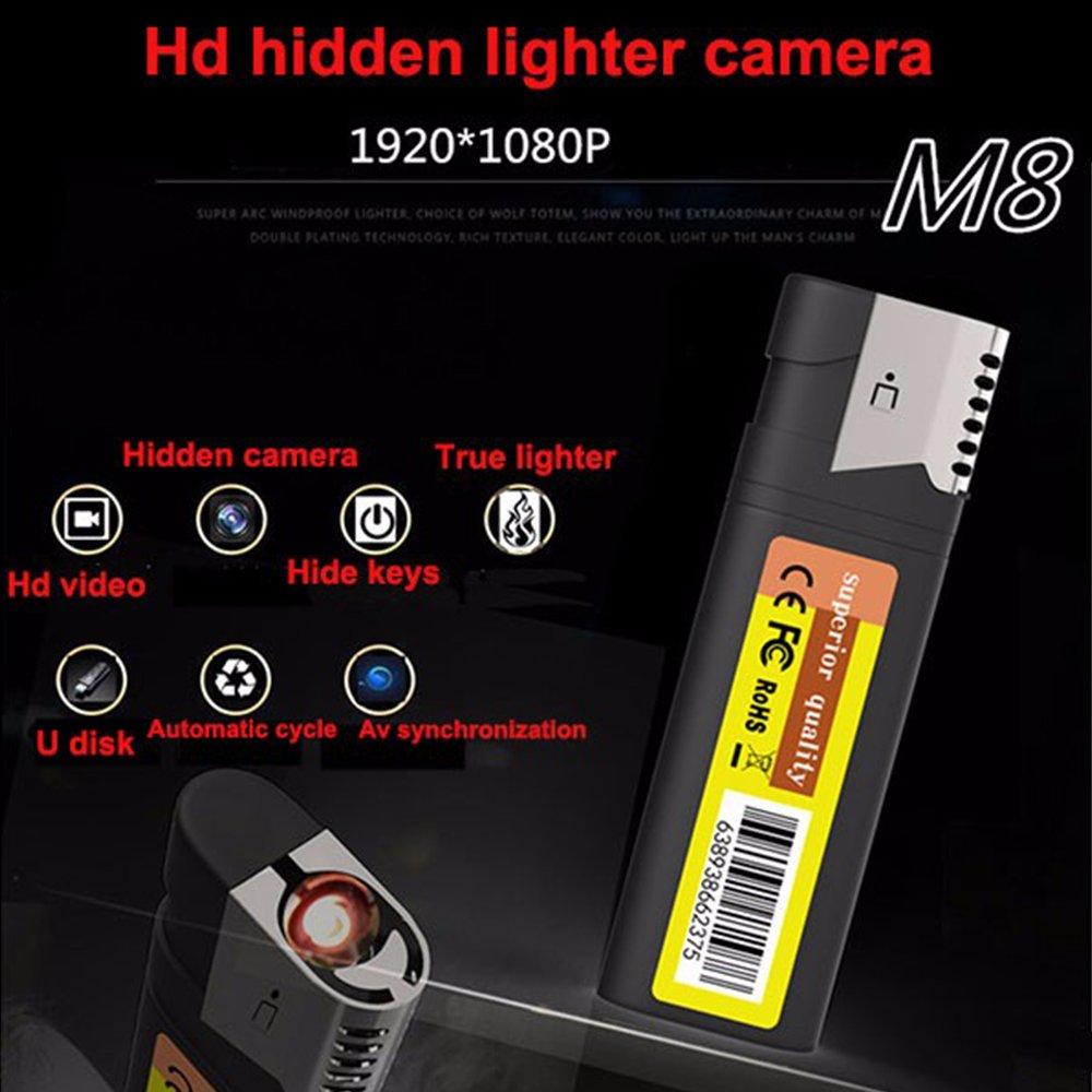 Electro-Weideworld - 1080P HD Cámara Espía Encendedor Mini DV Grabadora de Vídeo Videocámara Seguridad DVR Spycam: Amazon.es: Bricolaje y herramientas