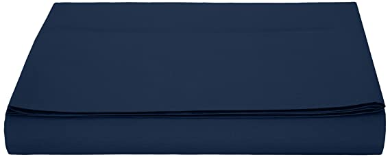 AmazonBasics - Hoja de Microfibra, 180 x 290 + 10 cm - Navy Blue