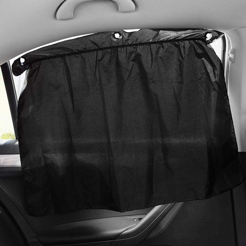 iBelly 2019 Innovation 2PCS Auto Side Window Curtain Universal with Sucker Cup 190T Polyester Taffeta Sunshade UV Protecting Suns Block Curtains Practical