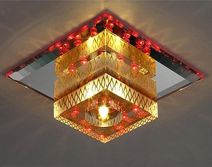 Nihe luci di cristallo soffitto lampada navata quadrata lampadario