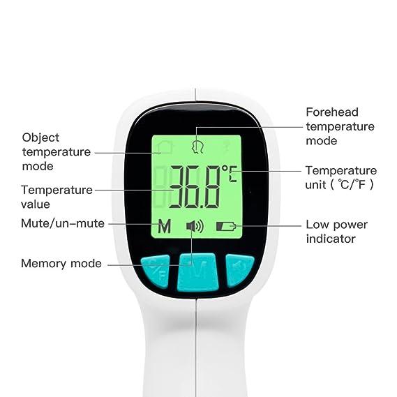 JUMPER FR202 Termómetro Digital sin Contacto - Termómetro Infrarrojo Profesional para Bebés con Lectura Instantánea Alarma Contra la Fiebre - Adecuado para ...