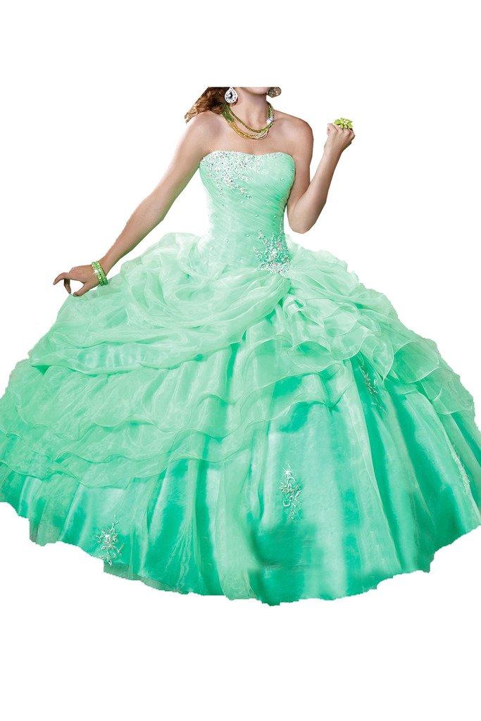 (ウィーン ブライド)Vienna Bride 成人式のドレス ウェディングドレス ビスチェタイプ カラードレス ふんわりとする裾 プリンセスドレス 花嫁ドレス カステラ 背中に編み上げ B01N4NSJJV 17|ライトグリーン ライトグリーン 17