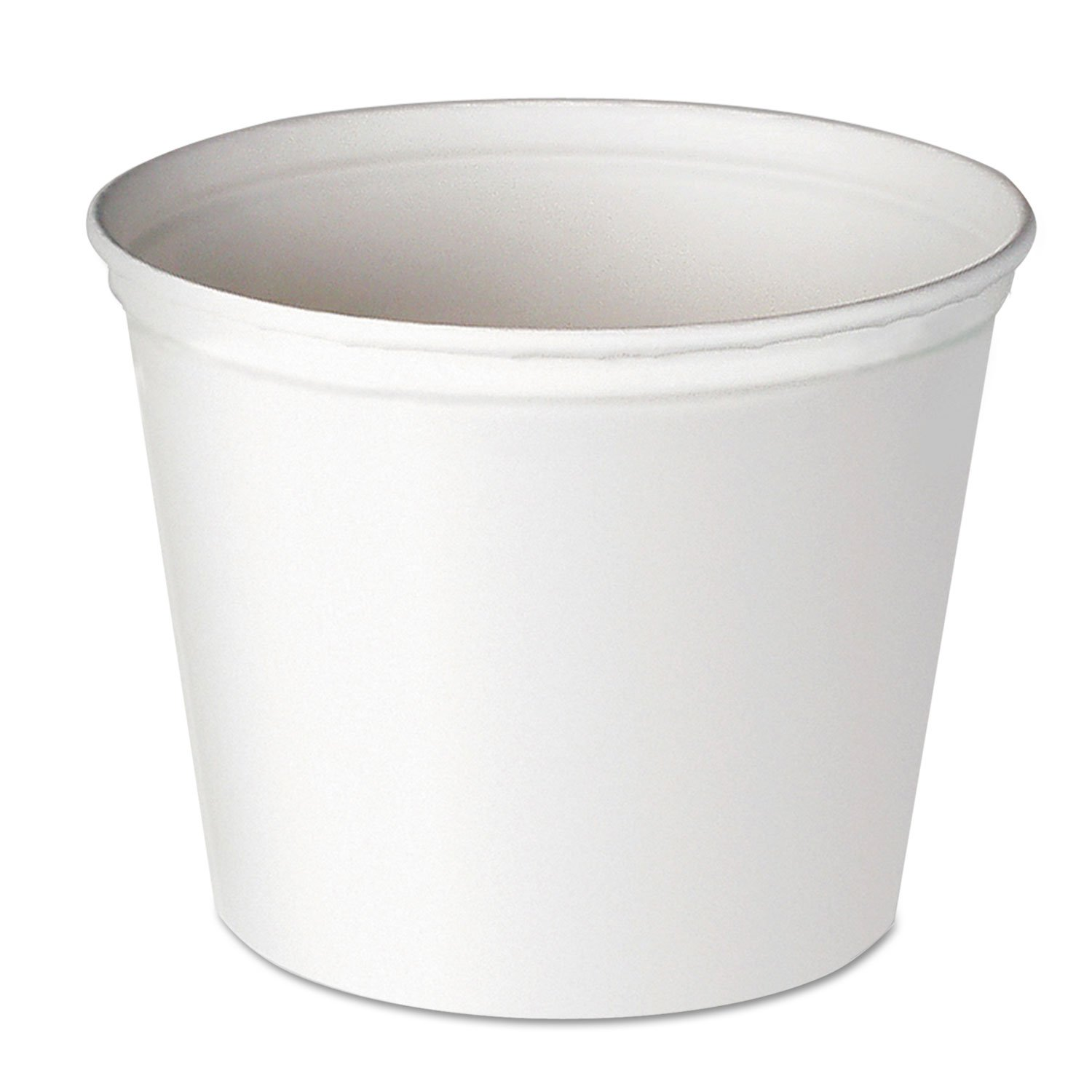 Dart 10T1-N0198 Double Wrapped Paper Bucket, Unwaxed, White, 165oz, 100/carton