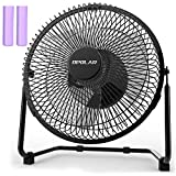 Appliances : OPOLAR 9 Inch Battery Operated Rechargeable Fan, Metal USB Desk Fan with 5200 mAh Capacity, Strong Airflow, Lower Noise, Two Speeds, Personal Cooling Fan for Home & Office & Camping & Hurricane