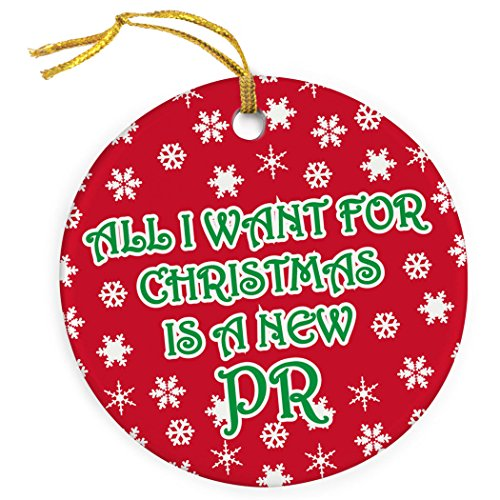 All I Want For Christmas Is a New PR Ornament | Running Porcelain Ornaments (Ornament Runner Christmas)