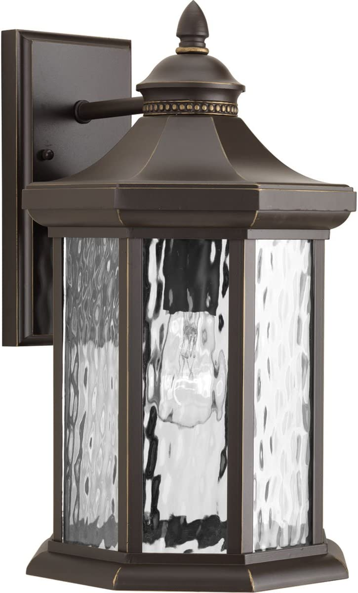 Progress Lighting P6072-20 Traditional One Light Wall Lantern from Edition Collection Dark Finish, Antique Bronze