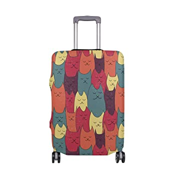 Elastic Travel Luggage Cover Cats Suitcase Protector for 18-20 Inch Luggage