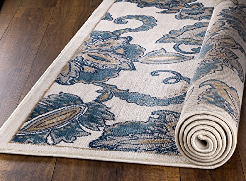 MADISON COLLECTION RD-2TOW-LG94 402 Vintage Distressed Style Area Rug Clearance Soft Pile Durable Size Option , 1'.10'' x 7' Hallway (Madison Office Set)