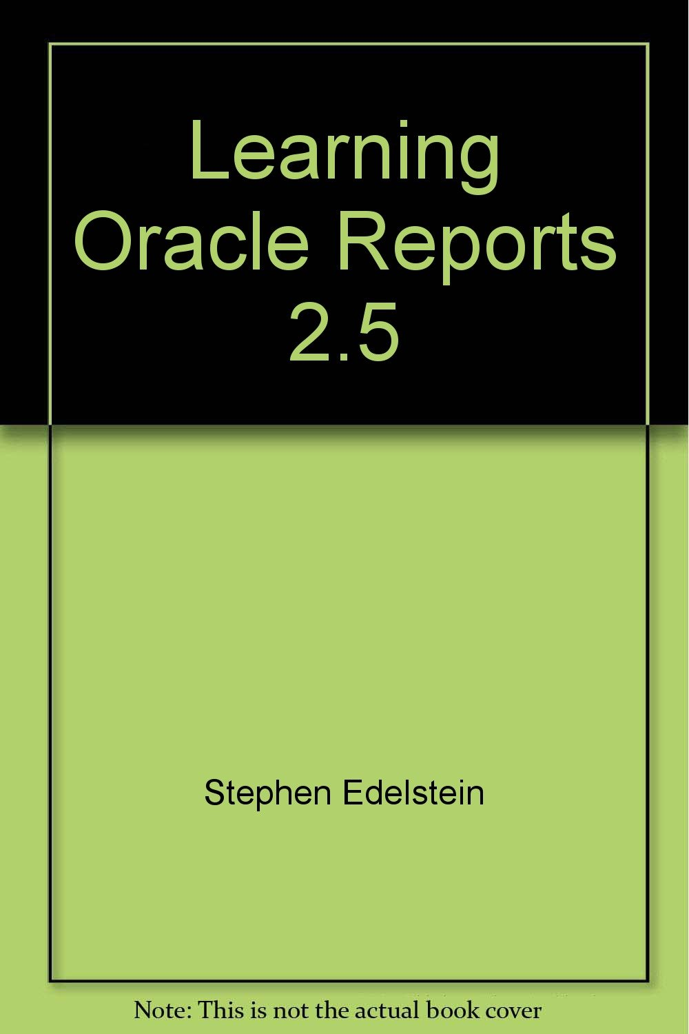 manual oracle reports