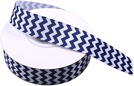 "1 yard Black chevron print 1.5/"" grosgrain ribbon by the yard DIY hair bows"
