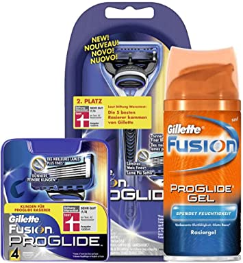 Gillette Fusion ProGlide Value pack (maquinilla de afeitar, 4 cuchillas, gratis gel mini, gratis exclusiva caja Gillette): Amazon.es: Salud y cuidado personal