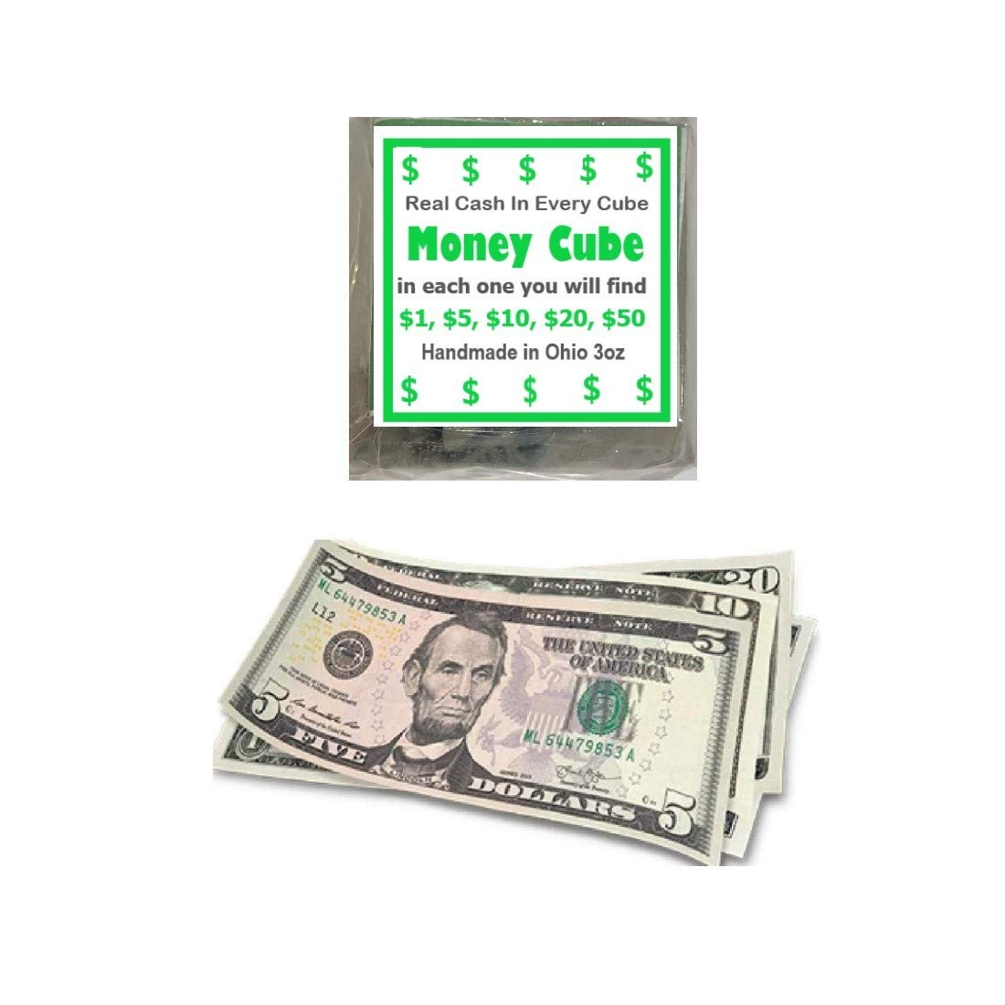 The Cube Money Soap Real Cash In Every Bar