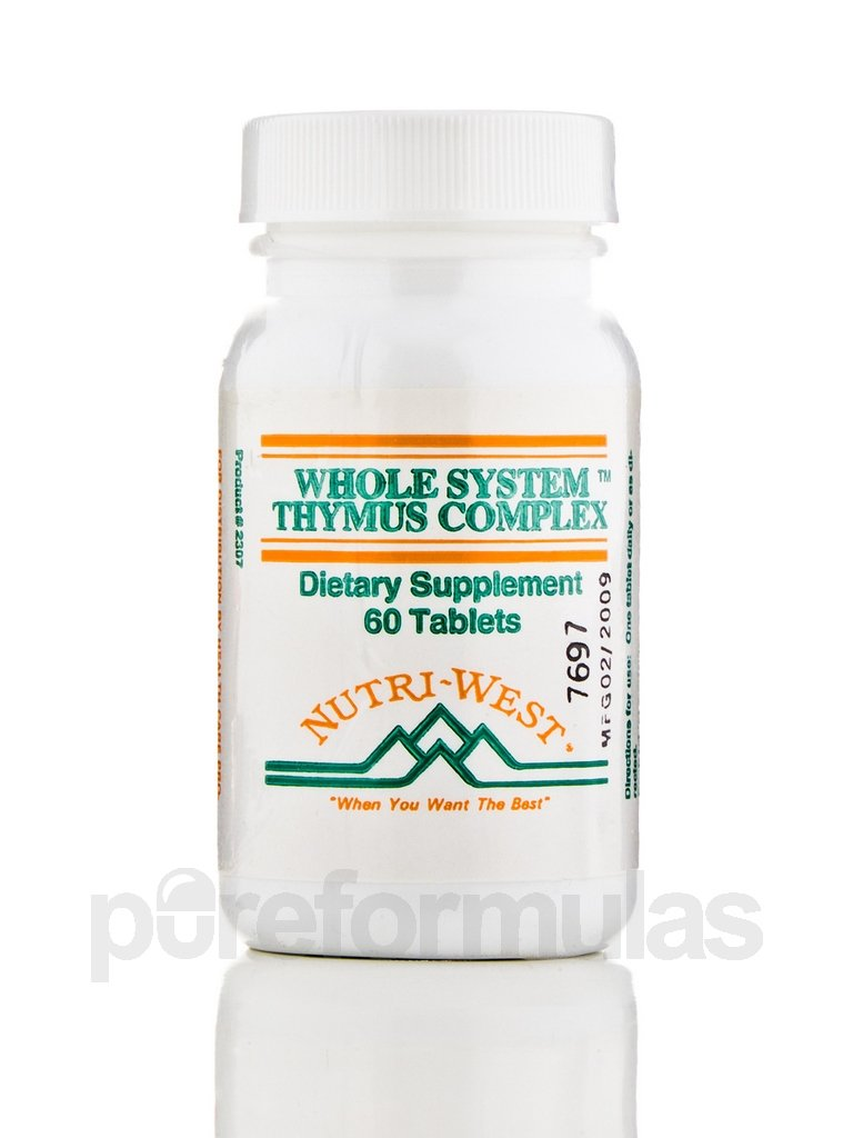 Whole System Thymus Complex - 60 Tablets by Nutri West by Nutri-West