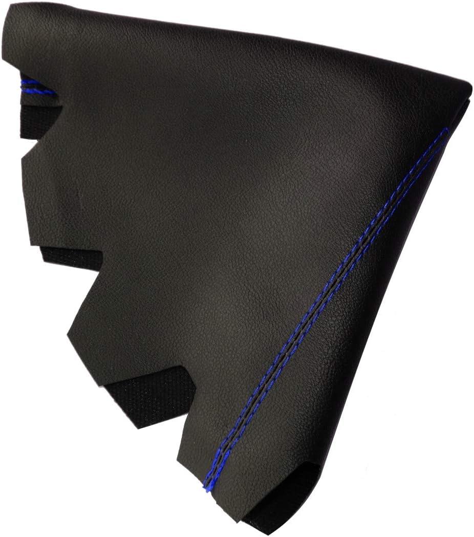 in Similpelle per Leva del Cambio pelle Nero con Cuciture Blu AERZETIX Cuffia Soffietto