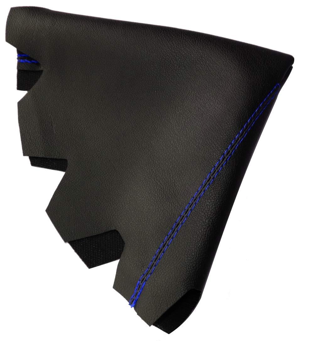 negro con costuras negro Funda para palanca de cambios de piel sint/ética con costuras de colores variables AERZETIX