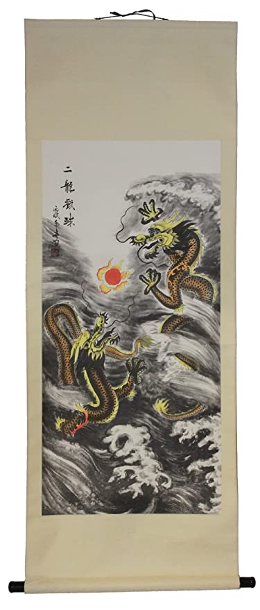 amazon com large hand painting chinese scroll art with double