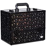"""Makeup Case 6 Trays Large 14"""" x 8.5"""" x 11"""" Train Cases Cosmetic"""
