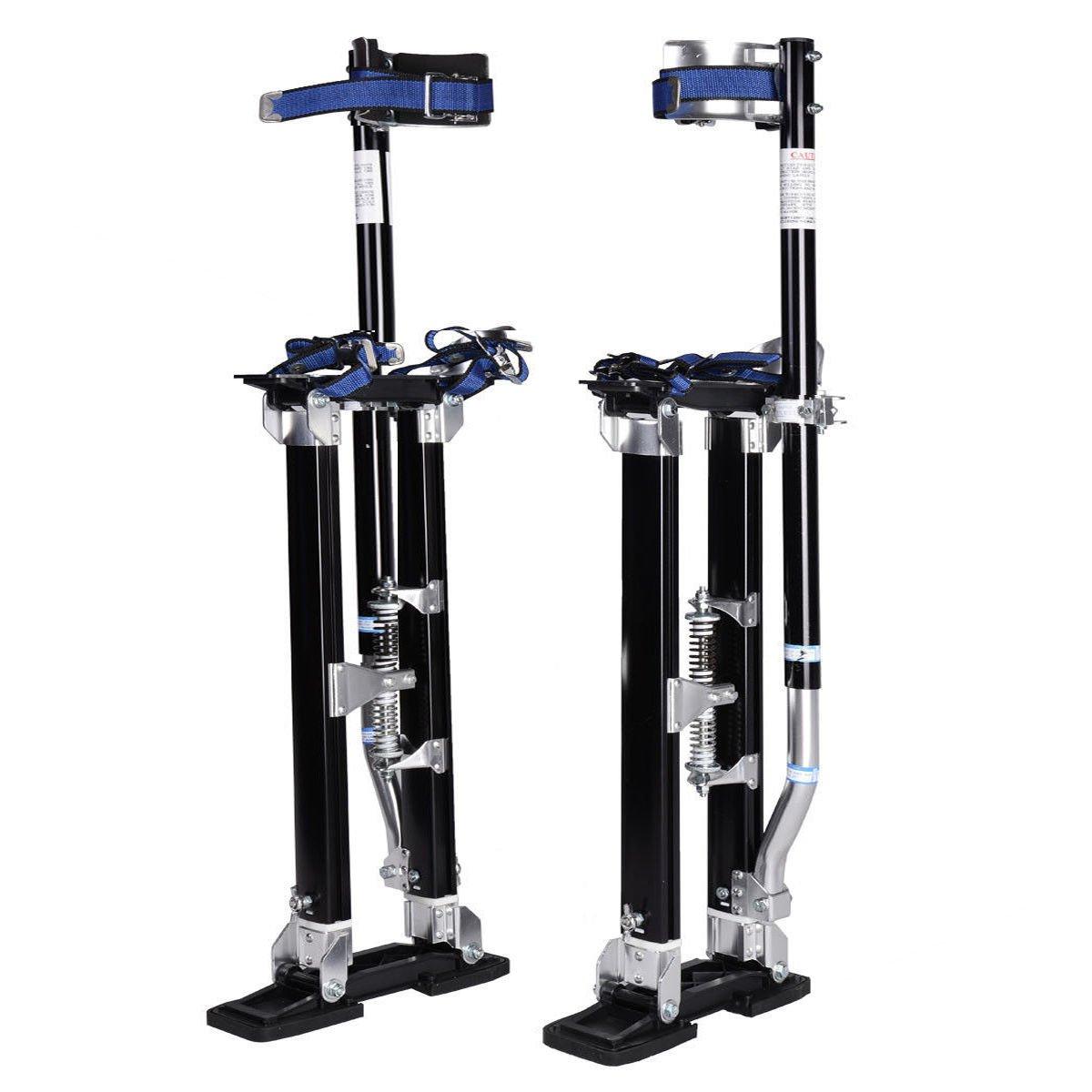 18-30, Black Goplus Drywall Stilts Drywall Lifts Aluminum Tool Stilt for Painting Painter Taping