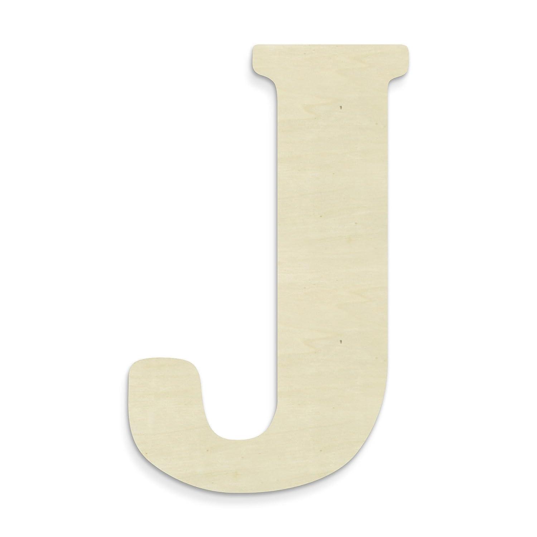 UNFINISHEDWOODCO madera sin terminar letra, 38,1 cm, monograma J, grande