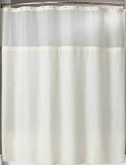 Trendy Linens Hotel Quality Shower Curtain With Detachable Liner Includes Its A Snap Polyester