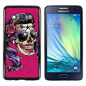 Shell-Star Arte & diseño plástico duro Fundas Cover Cubre Hard Case Cover para Samsung Galaxy A3 / SM-A300 ( Pink Purple Shades Girl Biker Woman )