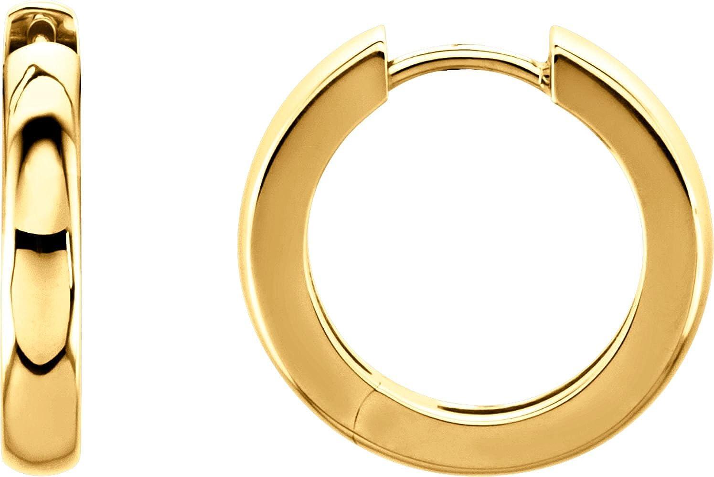 14K Yellow 17.5mm Hinged Hoop Earrings