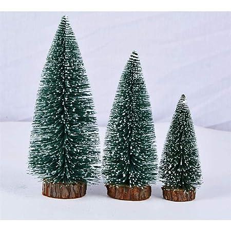 HZXY 3 Piezas Mini árbol de Navidad Artificial Miniatura Falso ...