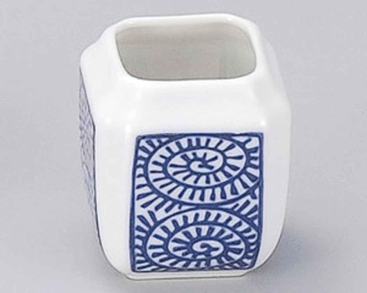 Tako Karakusa 1.9inch Set of 2 Toothpick holders White porcelain Made in Japan