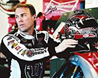 AUTOGRAPHED 2015 Kevin Harvick #4 Jimmy Johns Racing (Stewart-Haas) Garage Area Helmet 8X10 Signed Picture NASCAR Glossy Photo with COA from Trackside Autographs