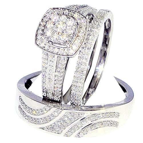 0 63cttw Diamond Rings White Color