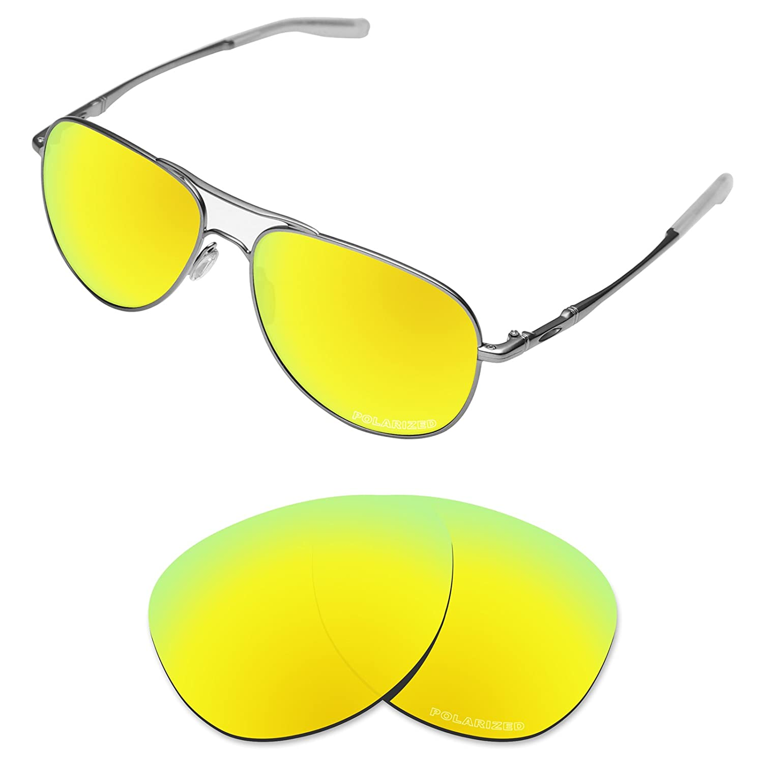 2170185f2f Amazon.com  Tintart Performance Lenses Compatible with Oakley Elmont M Polarized  Etched-Carbon Black  Clothing