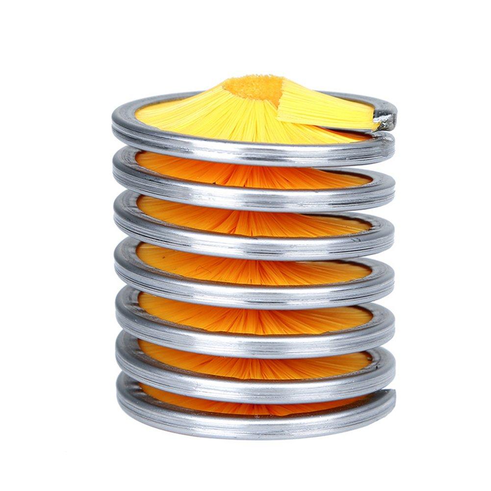 Romsion Outdoor Kletterseil Bürste Reinigungsbürste Seil Reinigungswerkzeug gelb 8 * 5 * 5cm