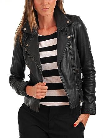 1bb4b0c9dac Fab Leather Women's Genuine Lambskin Bomber Biker Leather Jacket at Amazon Women's  Coats Shop