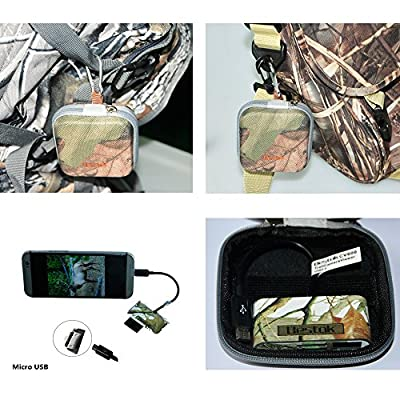Bestok Trail Cam Card Viewer,Wildlife Outdoor Scouting Cameras SD Card Reader for Scanning Pictures and Videos USB Hub Connector Kit Picture Reader, with Storage Case for Android Phones Tablets from bestok