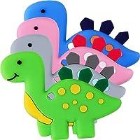 Teething Toys (4 Packs) - Tinabless Infant Dinosaur Teether Set, Natural Organic...