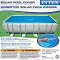 "Intex Solar Cover for 18ft X 9ft Rectangular Frame Pools, Measures 17' 8"" X 8' 4"" with Solar Cover Reel by Intex Recreation"