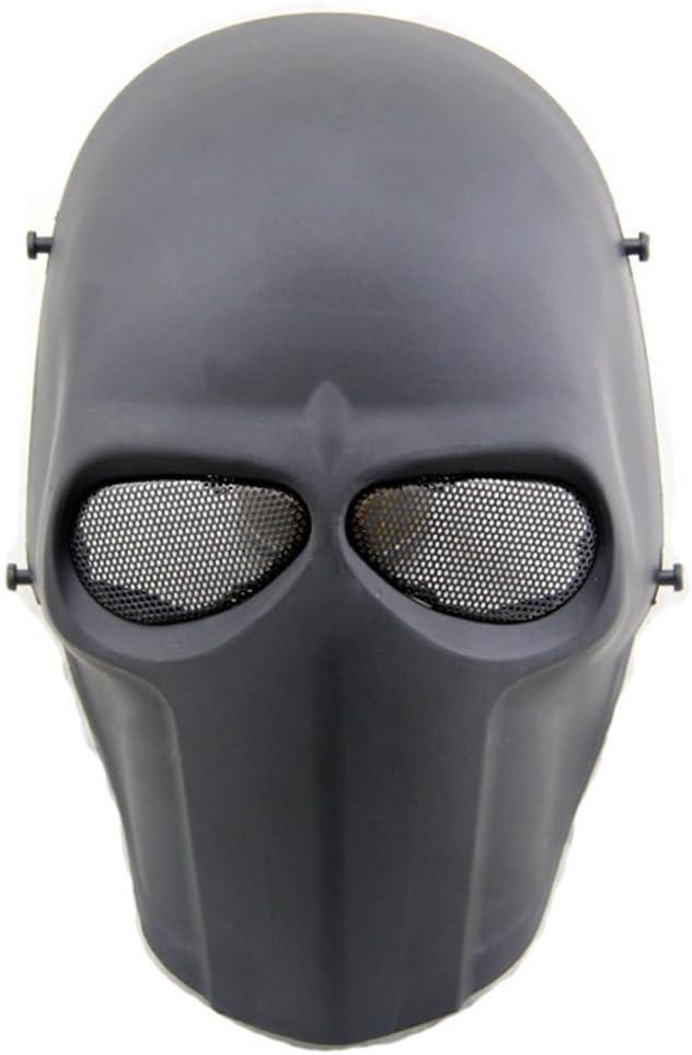 Máscara táctica de protección CS para paintball, airsoft, hockey, BB, disfraces, Halloween, cosplay, cobertura completa, negro