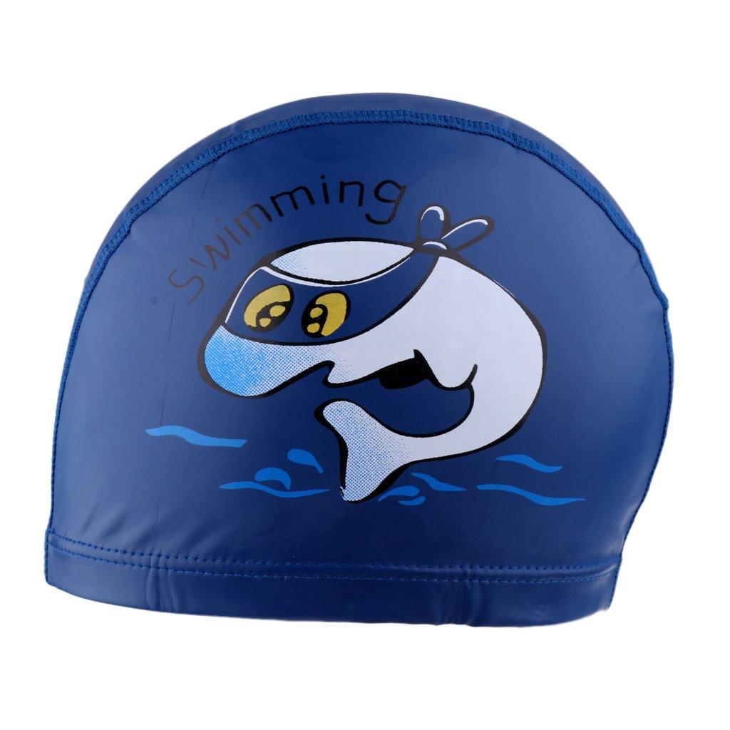 MagiDeal Protección para Oídos Gorra de Natación Delfín de Dibujo Animado Prueba de Agua - Azul oscuro: Amazon.es: Deportes y aire libre