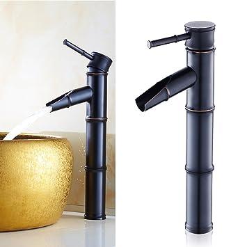 auralum miscelatore bagno cascata rubinetto bagno lavabo alto ottone nero lavandino monocomando rubinetto per