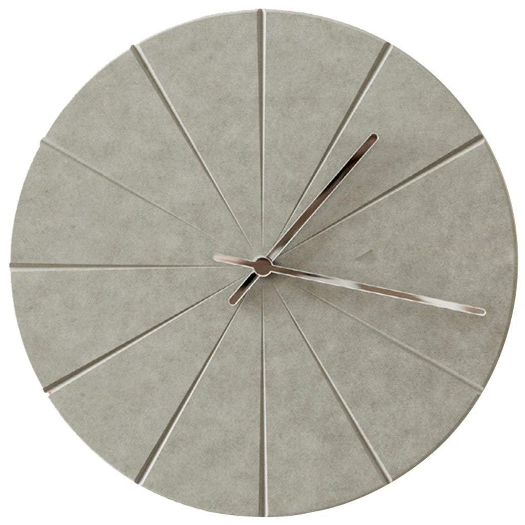 壁時計、北欧スタイルのシンプルな壁時計リビングルームミュート鉄の壁時計、装飾壁時計、青、28 * 28Cm,A B07FSGG1WDA
