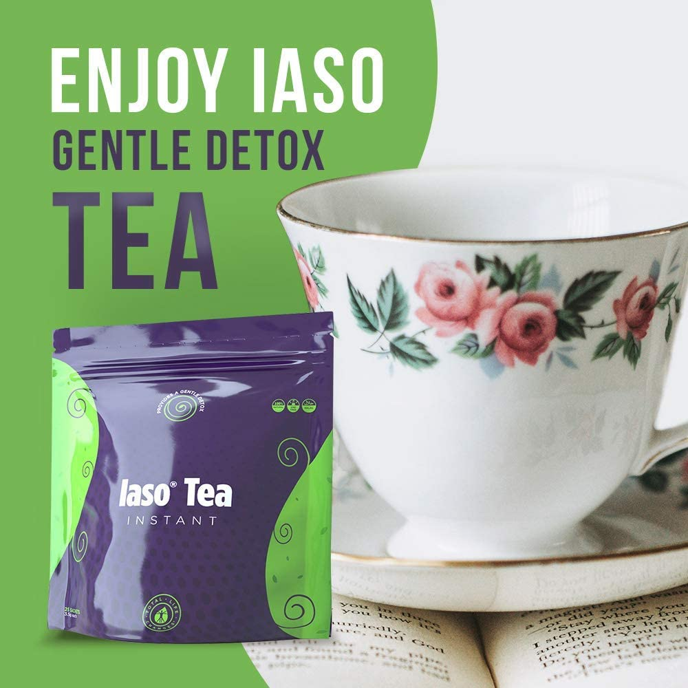 TLC Total Life Changes IASO Natural Detox Instant Herbal Tea - Expiration Date on The Pack Means Month/Year