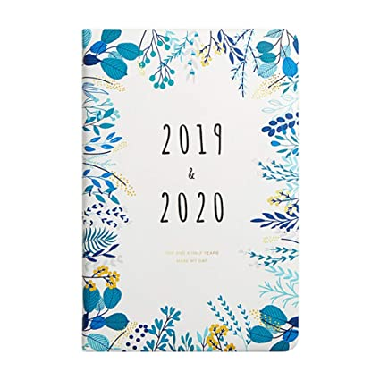Planificador diario semanal mensual 2019 2020, espiral A5 ...