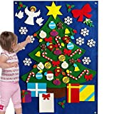 Felt Christmas Tree for Kids Toddlers Wall Decoration Set Flannel Storyboard Giant 3.5 FT Premium Quality Holiday Winter Ornament Xmas Story DIY Quiet Book 50+ Pieces Ornament (Deluxe)